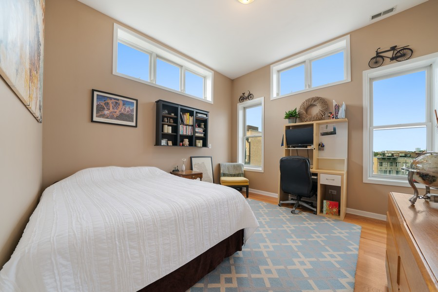 Real Estate Photography - 744 N May St #3P, Chicago, IL, 60642 - 2nd Bedroom