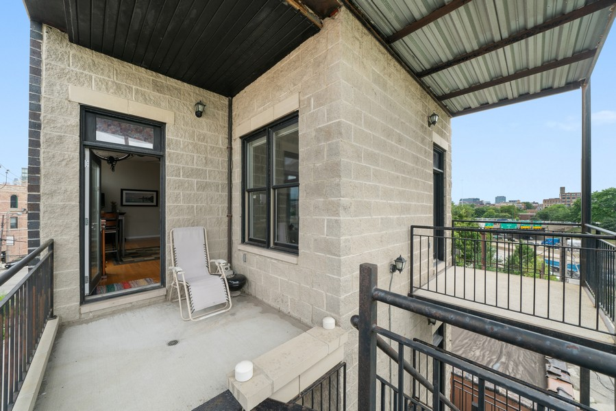 Real Estate Photography - 744 N May St #3P, Chicago, IL, 60642 - Balcony