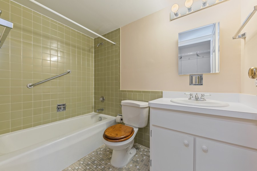 Real Estate Photography - 1110 Grove St., Unit 3C, Downers Grove, IL, 60515 - Master Bathroom