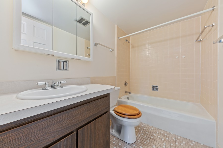 Real Estate Photography - 1110 Grove St., Unit 3C, Downers Grove, IL, 60515 - Bathroom