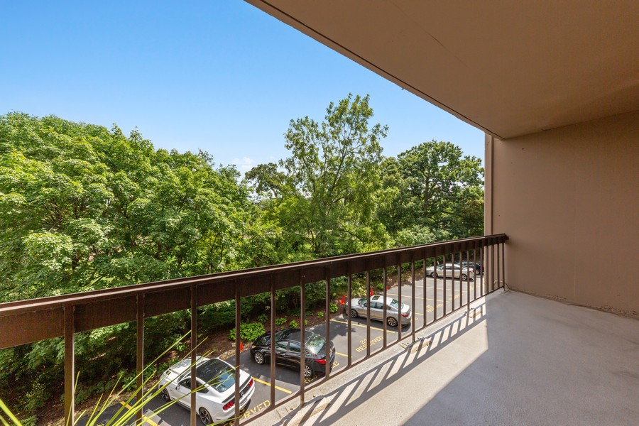 Real Estate Photography - 1110 Grove St., Unit 3C, Downers Grove, IL, 60515 - Balcony