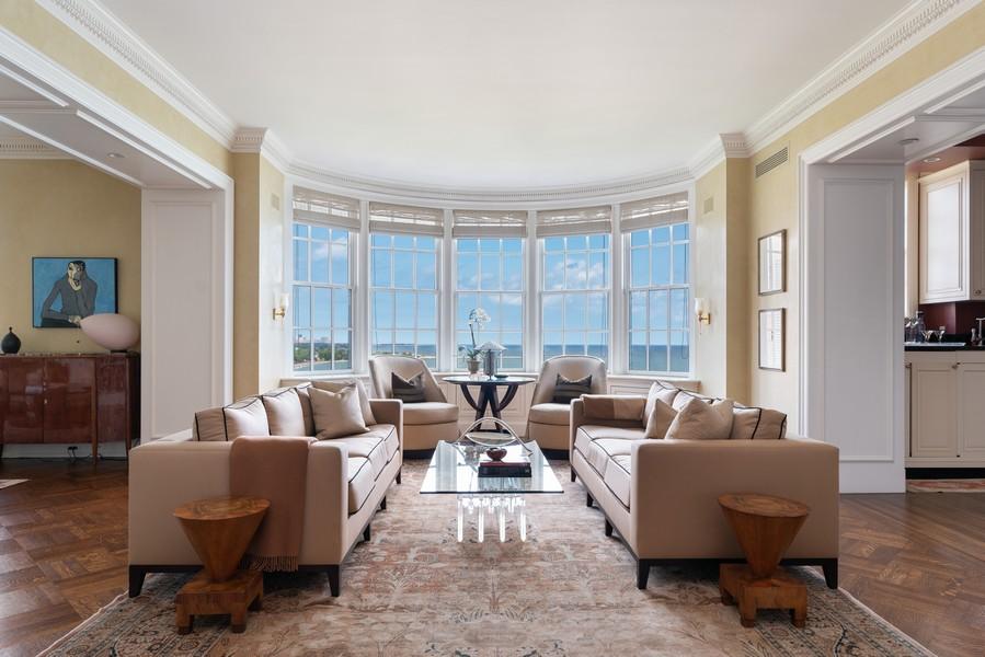 Real Estate Photography - 199 E Lake Shore Drive, 10E, Chicago, IL, 60611 - Living Room