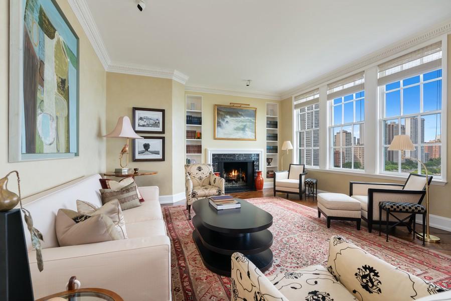 Real Estate Photography - 199 E Lake Shore Drive, 10E, Chicago, IL, 60611 - Family Room