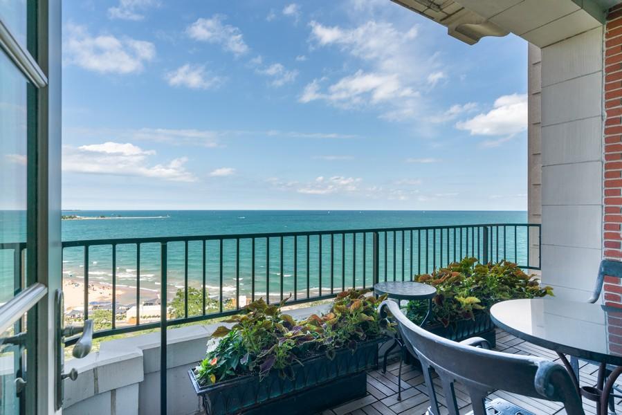 Real Estate Photography - 199 E Lake Shore Drive, 10E, Chicago, IL, 60611 - Balcony