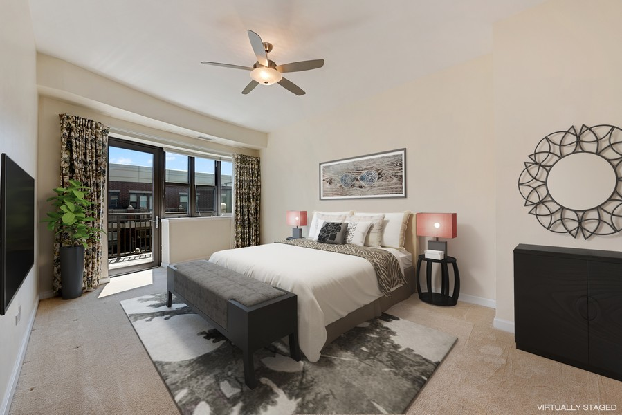 Real Estate Photography - 1111 S State Street, Unit A702, Chicago, IL, 60605 - Master Bedroom