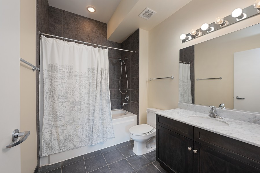 Real Estate Photography - 1111 S State Street, Unit A702, Chicago, IL, 60605 - 2nd Bathroom