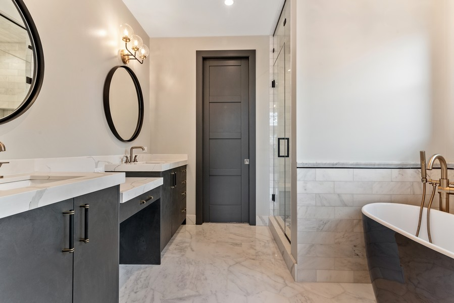 Real Estate Photography - 1942 W George, Chicago, IL, 60657 - Master Bathroom