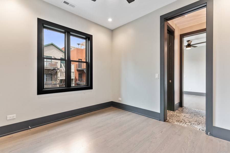 Real Estate Photography - 1942 W George, Chicago, IL, 60657 - 2nd Bedroom