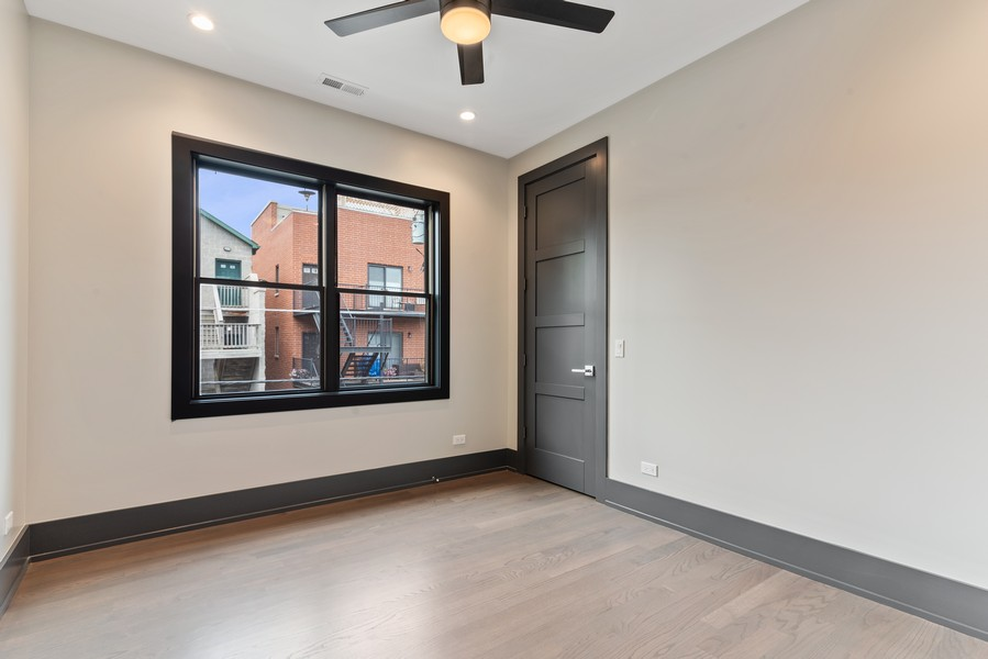 Real Estate Photography - 1942 W George, Chicago, IL, 60657 - 3rd Bedroom