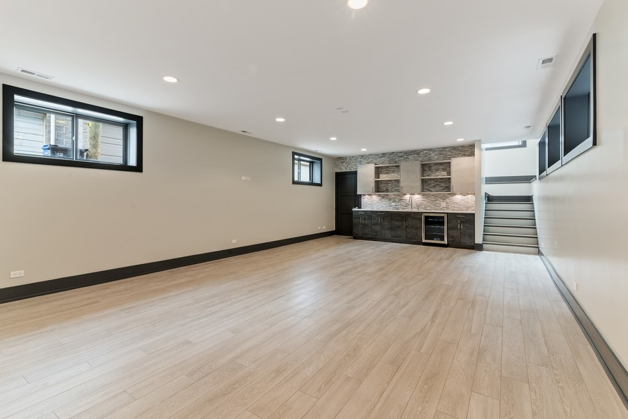 Real Estate Photography - 1942 W George, Chicago, IL, 60657 - Lower Level