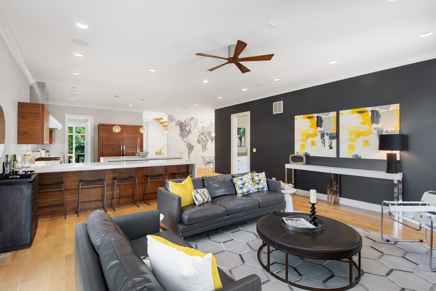 Real Estate Photography - 2026 W Wilson, Chicago, IL, 60625 - Family Room