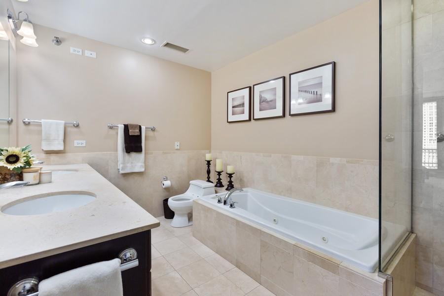 Real Estate Photography - 55 E Erie St, Unit 1801, Chicago, IL, 60611 - Master Bathroom
