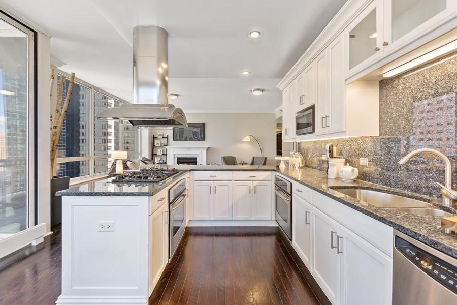 Real Estate Photography - 55 E Erie St, Unit 1801, Chicago, IL, 60611 - Kitchen
