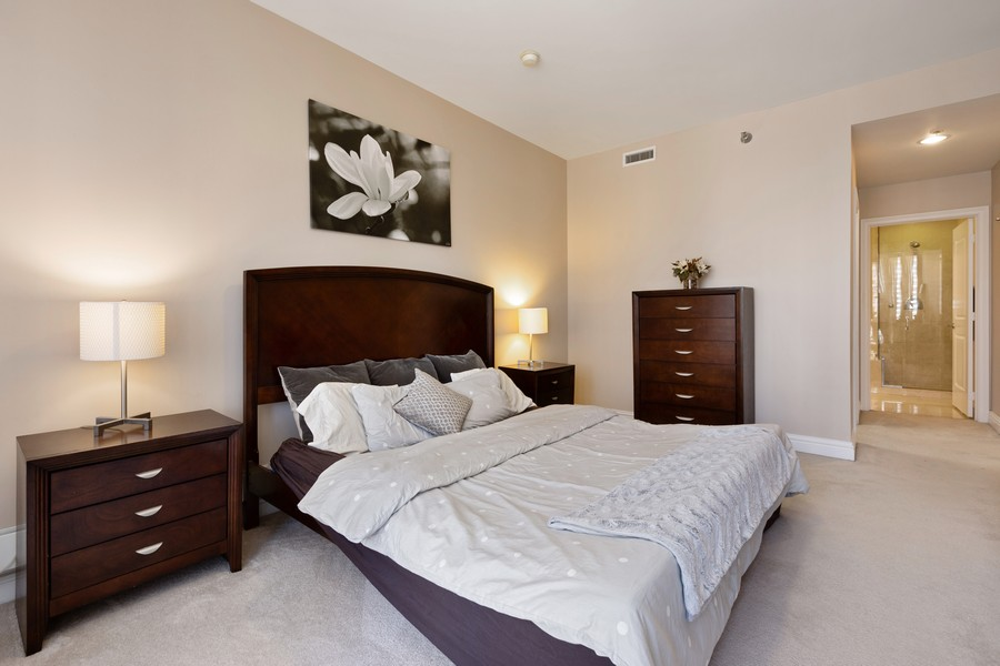 Real Estate Photography - 55 E Erie St, Unit 1801, Chicago, IL, 60611 - Master Bedroom