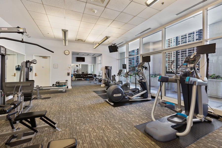 Real Estate Photography - 55 E Erie St, Unit 1801, Chicago, IL, 60611 - Exercise Room