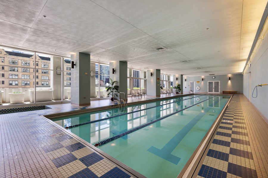 Real Estate Photography - 55 E Erie St, Unit 1801, Chicago, IL, 60611 - Pool
