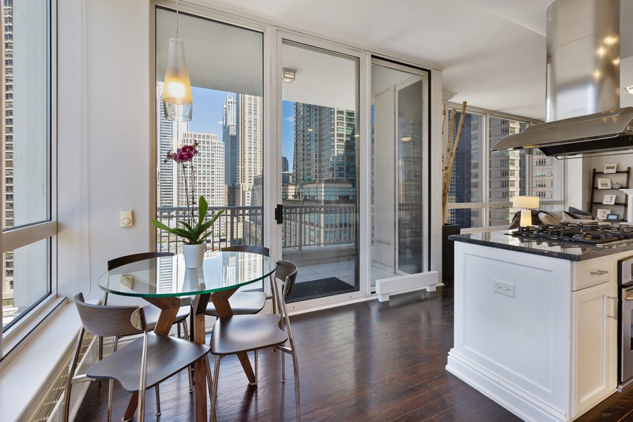 Real Estate Photography - 55 E Erie St, Unit 1801, Chicago, IL, 60611 - Kitchen / Dining Room