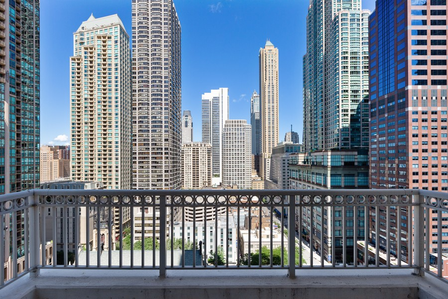 Real Estate Photography - 55 E Erie St, Unit 1801, Chicago, IL, 60611 - Balcony