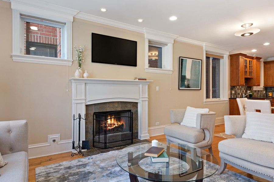 Real Estate Photography - 2712 N Lehmann Ct, Unit 1S, Chicago, IL, 60614 - Living Room
