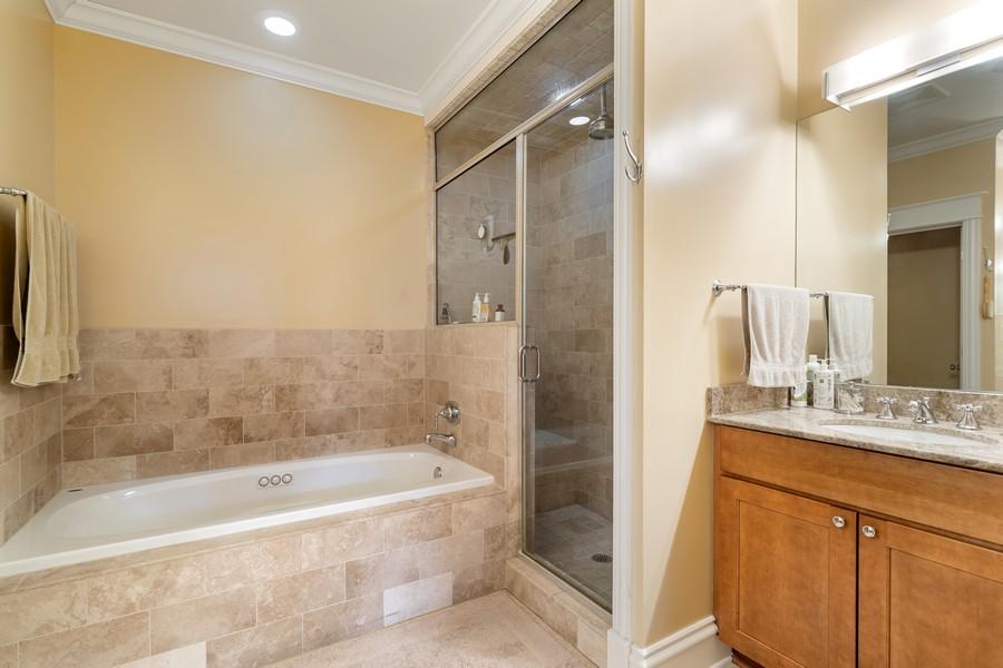 Real Estate Photography - 2712 N Lehmann Ct, Unit 1S, Chicago, IL, 60614 - Master Bathroom