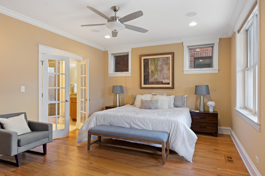 Real Estate Photography - 2712 N Lehmann Ct, Unit 1S, Chicago, IL, 60614 - Master Bedroom