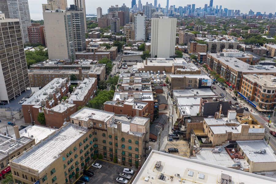 Real Estate Photography - 2712 N Lehmann Ct, Unit 1S, Chicago, IL, 60614 - Aerial View