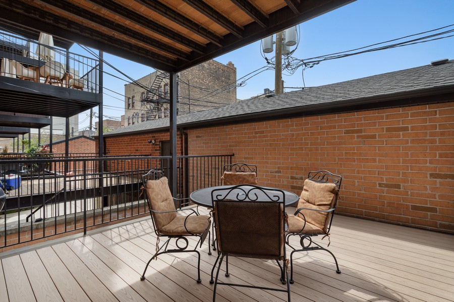 Real Estate Photography - 2712 N Lehmann Ct, Unit 1S, Chicago, IL, 60614 - Deck