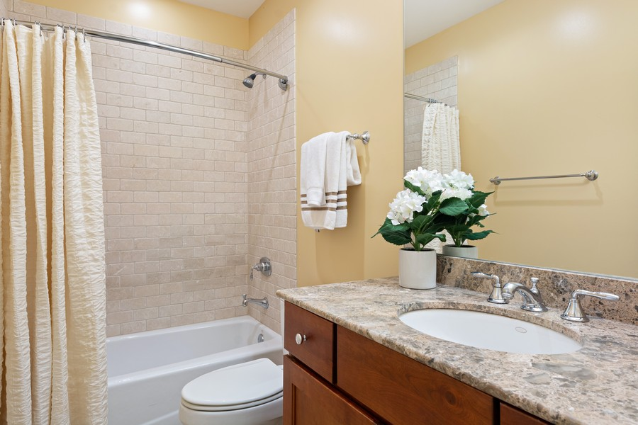 Real Estate Photography - 2712 N Lehmann Ct, Unit 1S, Chicago, IL, 60614 - 2nd Bathroom