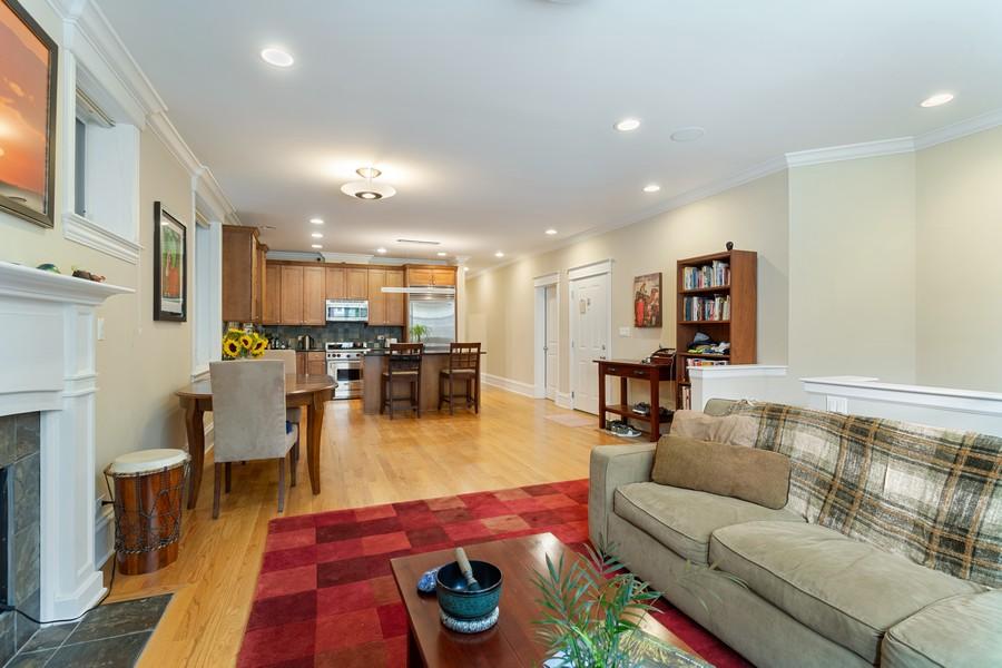 Real Estate Photography - 2712 N Lehmann Ct, Unit 1S, Chicago, IL, 60614 - Kitchen/Living