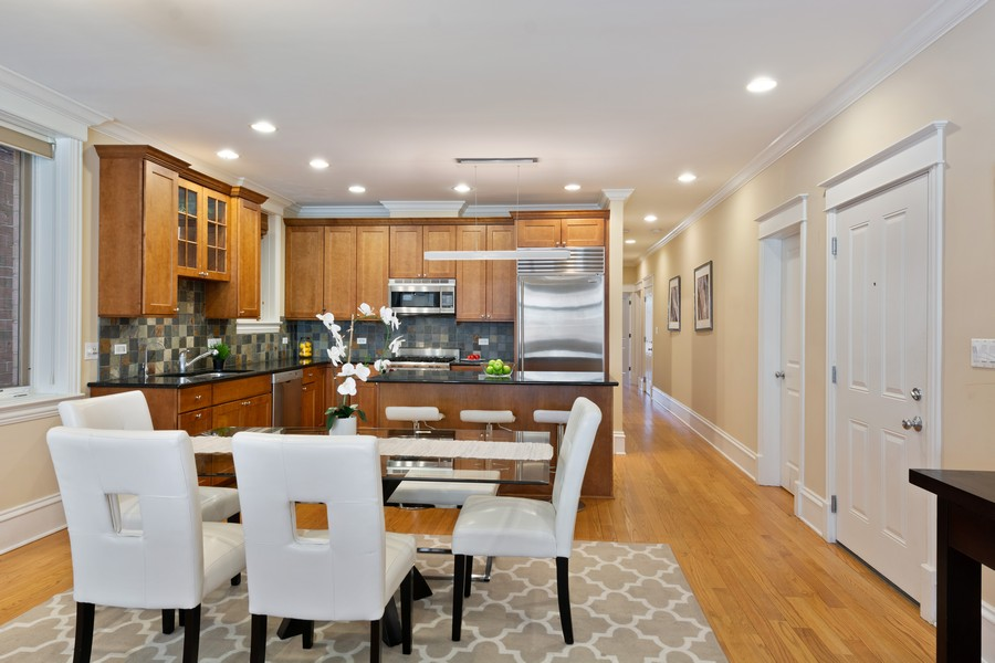 Real Estate Photography - 2712 N Lehmann Ct, Unit 1S, Chicago, IL, 60614 - Kitchen / Dining Room