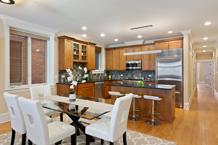 Real Estate Photography - 2712 N Lehmann Ct, Unit 1S, Chicago, IL, 60614 - Kitchen/Dining