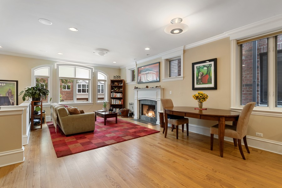 Real Estate Photography - 2712 N Lehmann Ct, Unit 1S, Chicago, IL, 60614 - Living Room / Dining Room