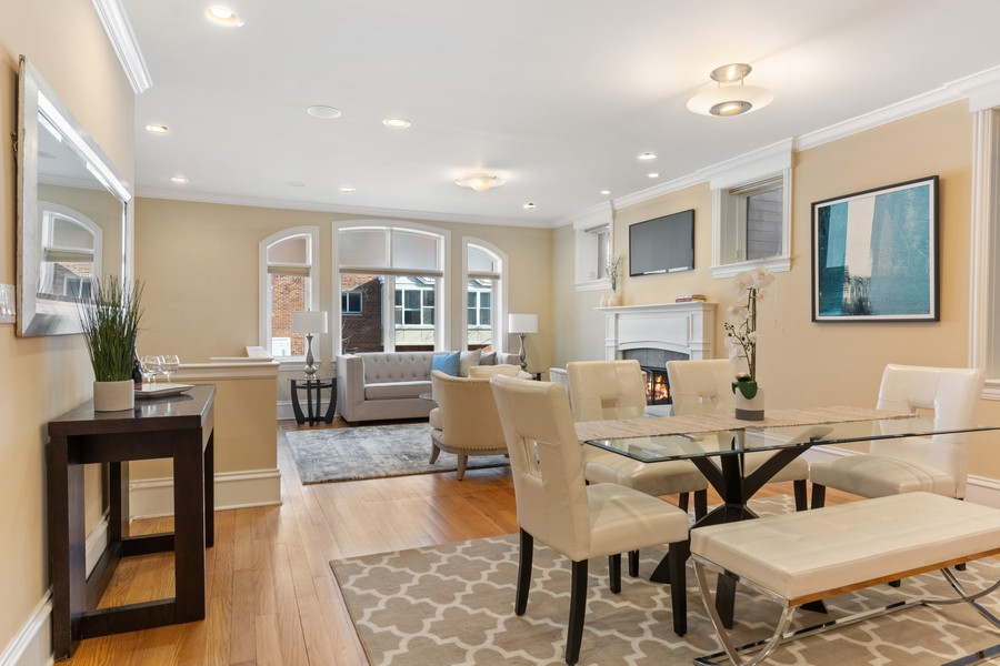 Real Estate Photography - 2712 N Lehmann Ct, Unit 1S, Chicago, IL, 60614 - Living Room/Dining Room