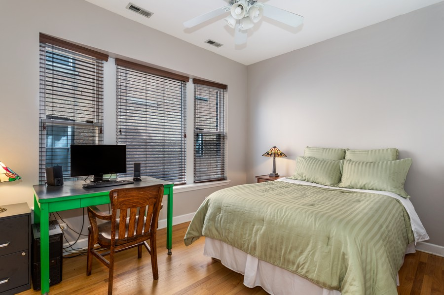 Real Estate Photography - 839 W Lawrence, Unit 2W, Chicago, IL, 60640 - Master Bedroom