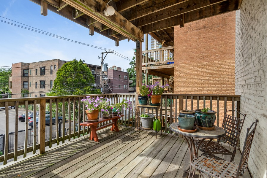 Real Estate Photography - 839 W Lawrence, Unit 2W, Chicago, IL, 60640 - Deck