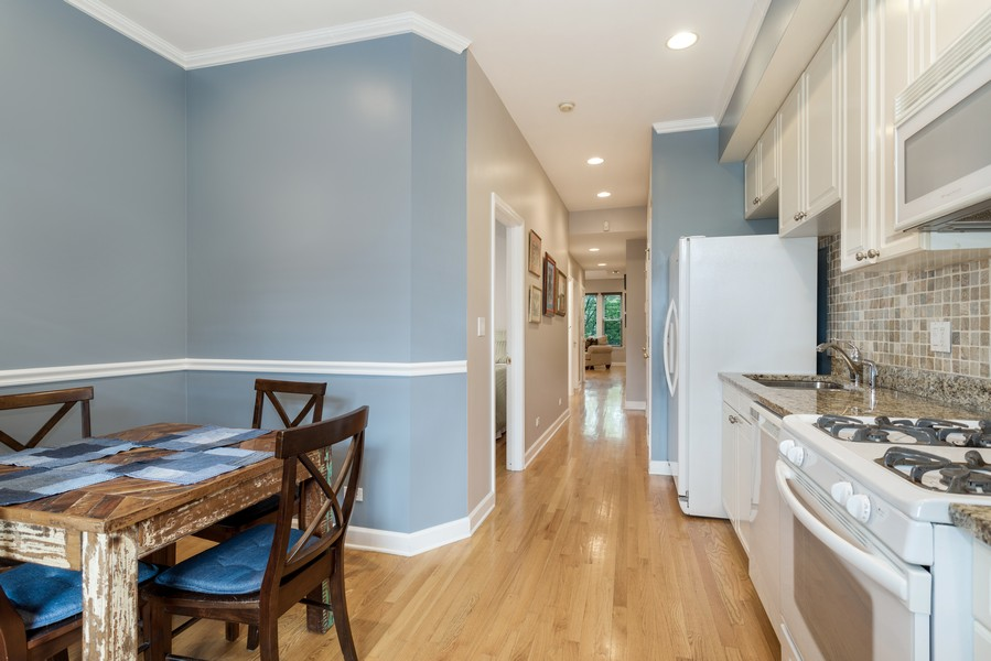 Real Estate Photography - 839 W Lawrence, Unit 2W, Chicago, IL, 60640 - Kitchen / Dining Room