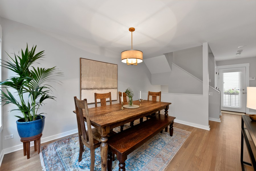 Real Estate Photography - 4554 N Paulina St, #6, Chicago, IL, 60640 - Dining Room