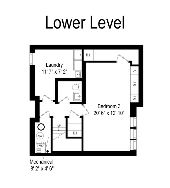Real Estate Photography - 4554 N Paulina St, #6, Chicago, IL, 60640 - Floor Plan