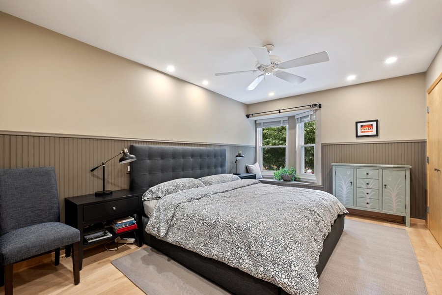 Real Estate Photography - 609 Custer, Unit B, Evanston, IL, 60202 - Master Bedroom
