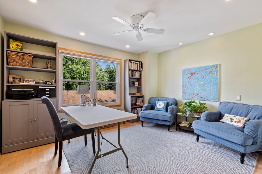Real Estate Photography - 609 Custer, Unit B, Evanston, IL, 60202 - 2nd Bedroom
