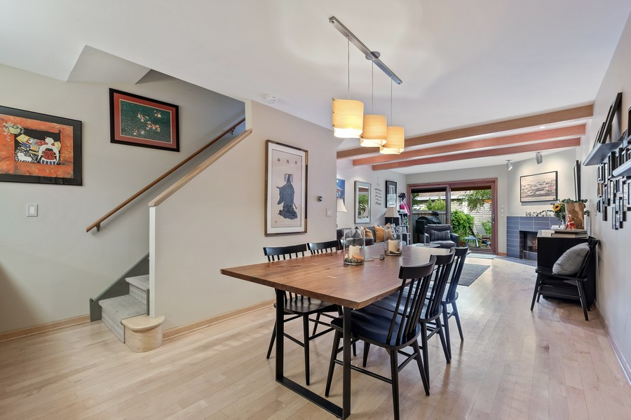 Real Estate Photography - 609 Custer, Unit B, Evanston, IL, 60202 - Dining Room