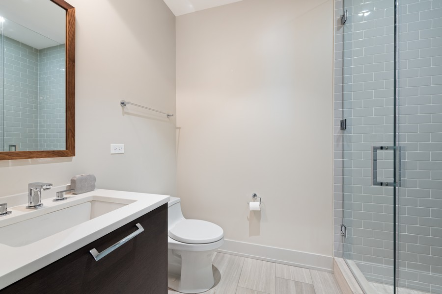 Real Estate Photography - 676 N Kingsbury, Unit 204, Chicago, IL, 60654 - 4th Bathroom