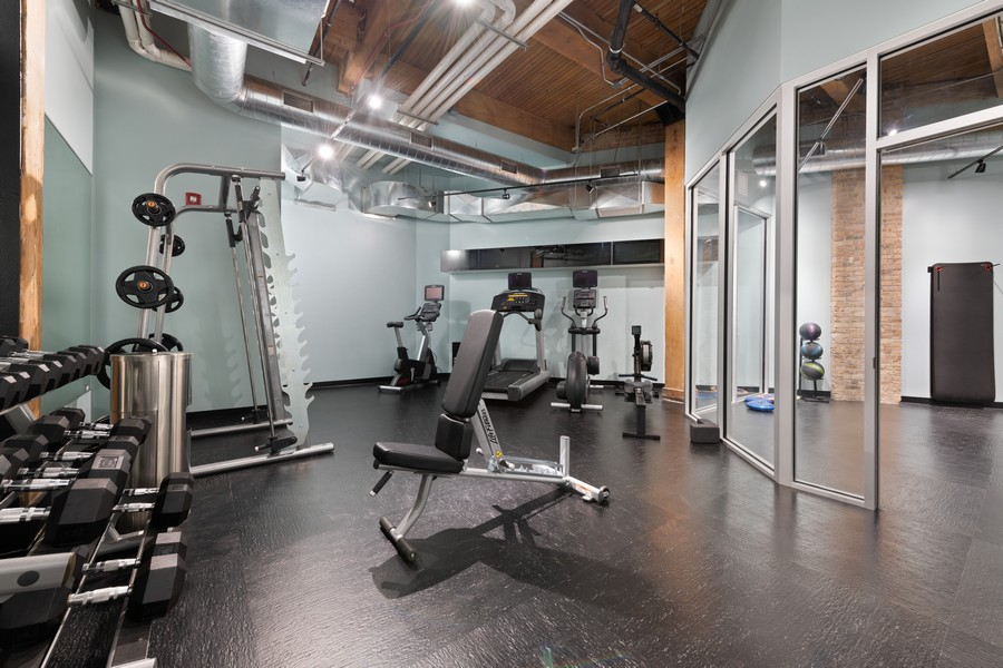 Real Estate Photography - 676 N Kingsbury, Unit 204, Chicago, IL, 60654 - Fitness Center