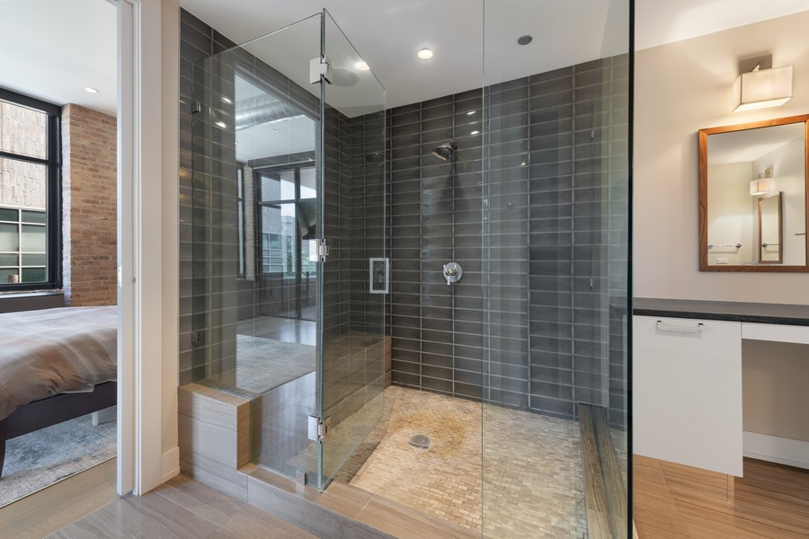 Real Estate Photography - 676 N Kingsbury, Unit 204, Chicago, IL, 60654 - Master Bathroom