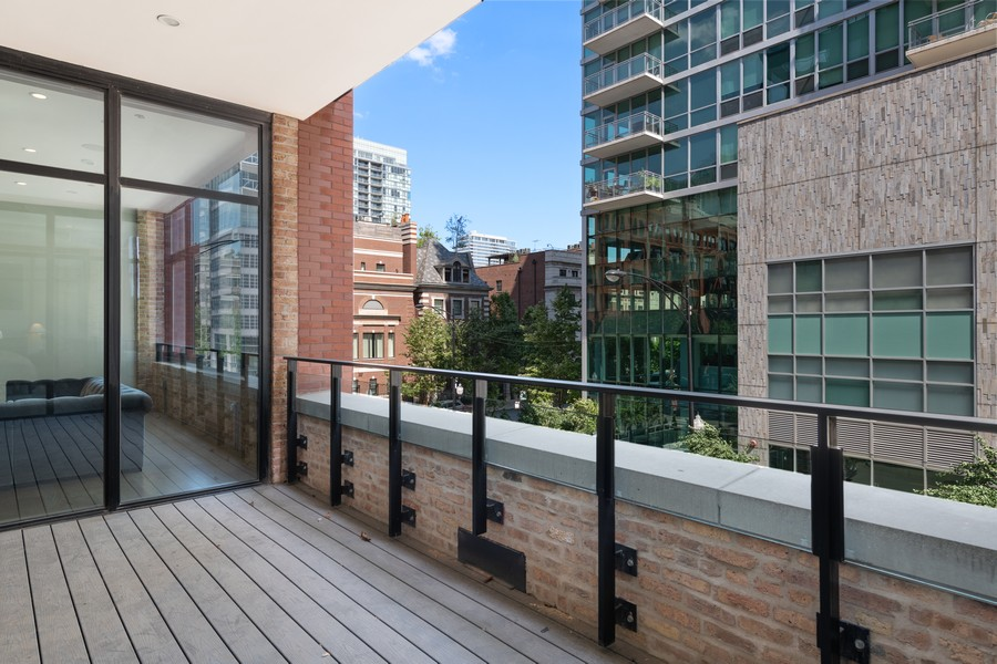 Real Estate Photography - 676 N Kingsbury, Unit 204, Chicago, IL, 60654 - Balcony
