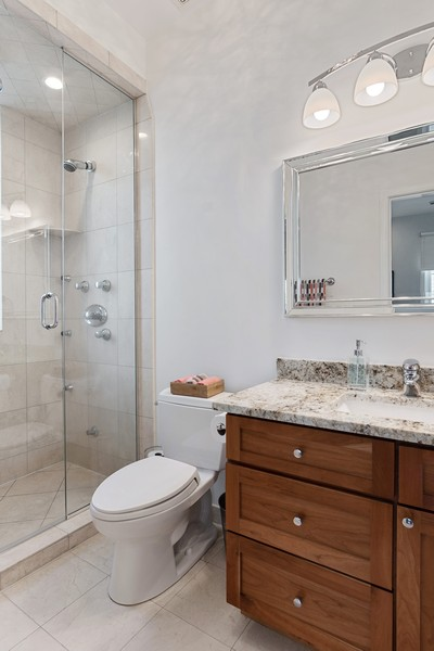 Real Estate Photography - 946 North Wood Street Unit 2, chicago, IL, 60622 - Master Bathroom