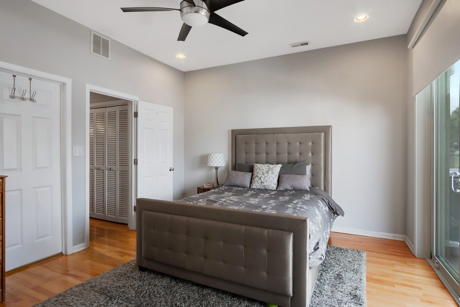 Real Estate Photography - 946 North Wood Street Unit 2, chicago, IL, 60622 - Master Bedroom