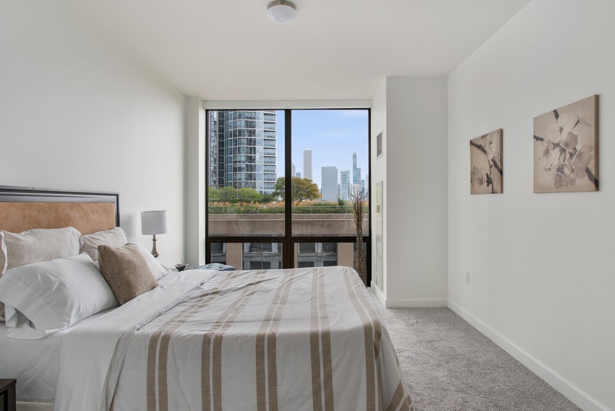 Real Estate Photography - 233 E 13th 603, Chicago, IL, 60605 - Master Bedroom