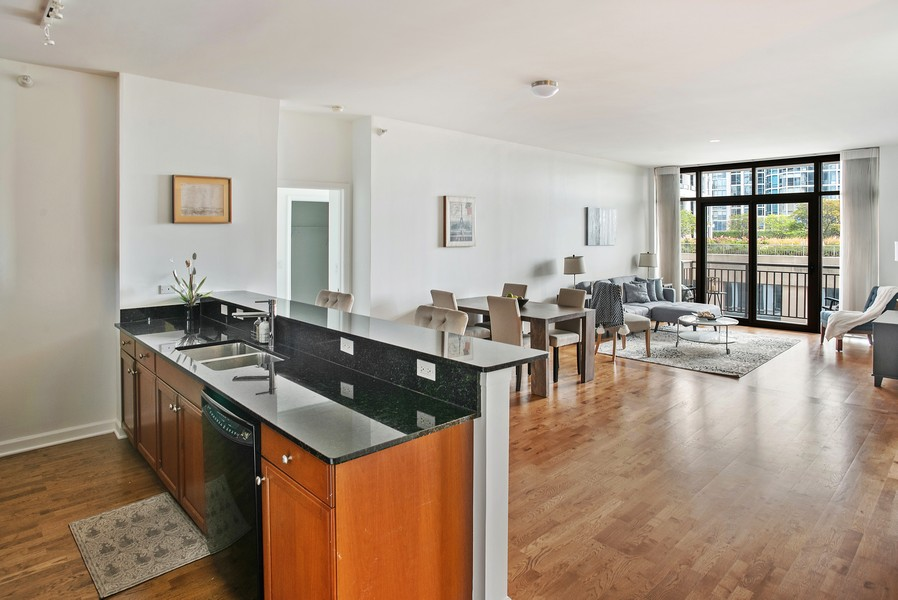 Real Estate Photography - 233 E 13th 603, Chicago, IL, 60605 - Kitchen / Dining Room