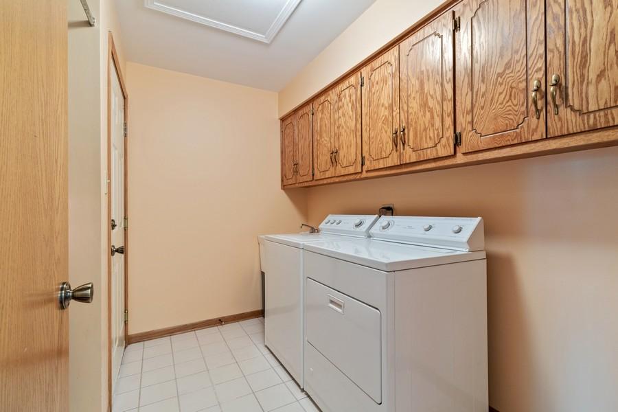 Real Estate Photography - 17731 Bernard Dr, Unit 3B, Orland Park, IL, 60467 - Laundry Room